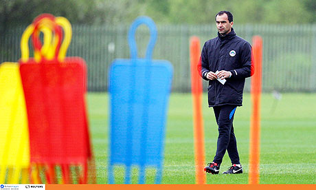 Wigan's manager, Roberto Martínez